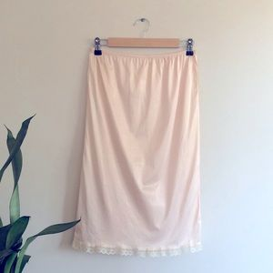 Vintage skirt slip with gorgeous side detail